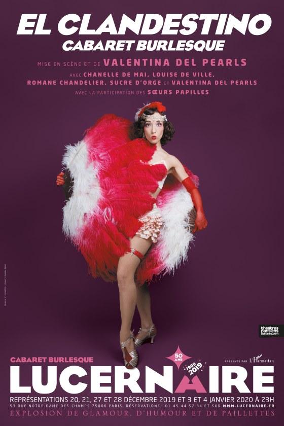 AFFICHE El clandestino, Cabaret Burlesque