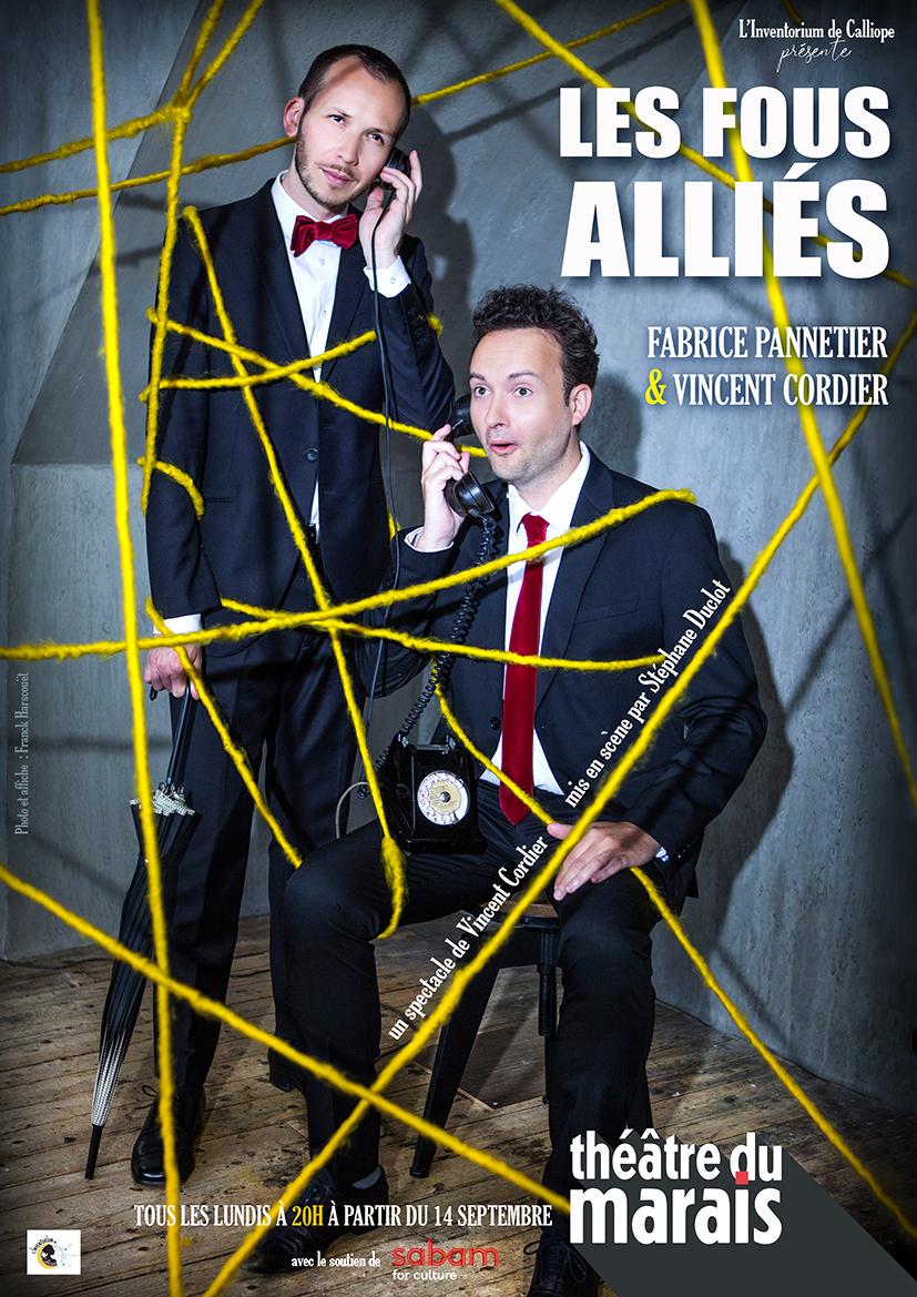 Affiche web réseaux Les Fous alliés